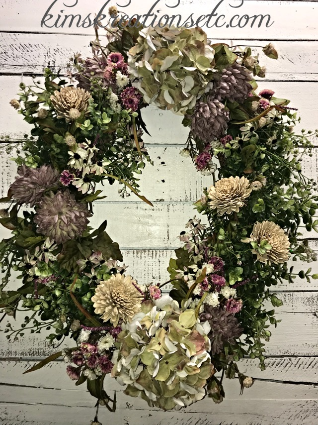 Spring Wreath Everyday Wreath Hydrangea Wreath All Seasons Wreath