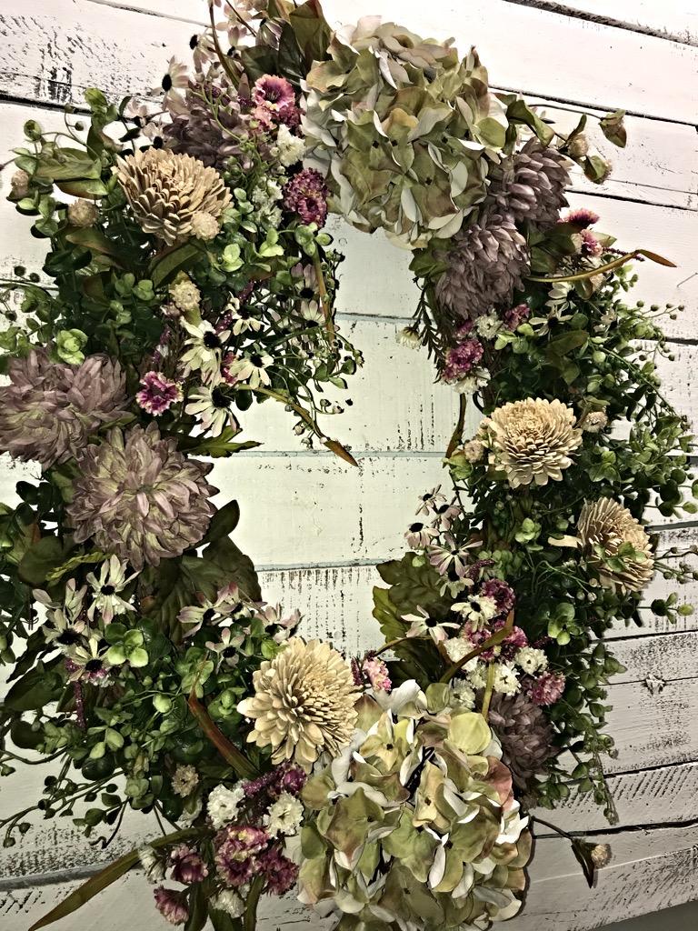Spring Wreath Everyday Wreath Hydrangea Wreath All Seasons Wreath