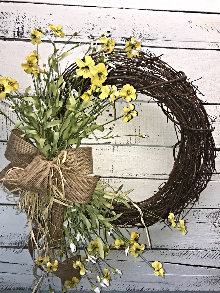 Spring Wreath Rustic Spring Wreath Rustic Wreath For