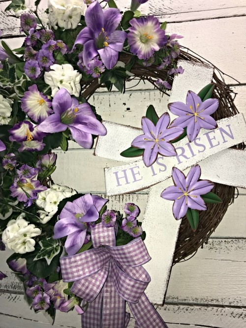 EASTER HE IS RISEN PURPLE LILY 1