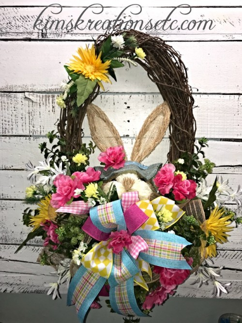 EASTER BUNNY OVAL