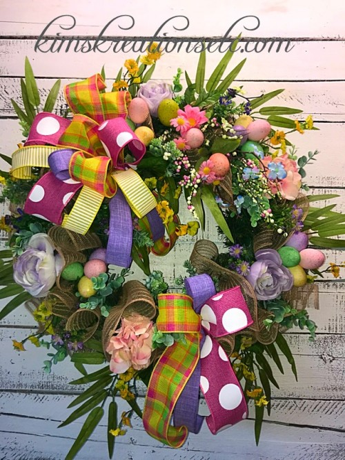 Easter Wreaths – Kim\'s Kreations, etc.