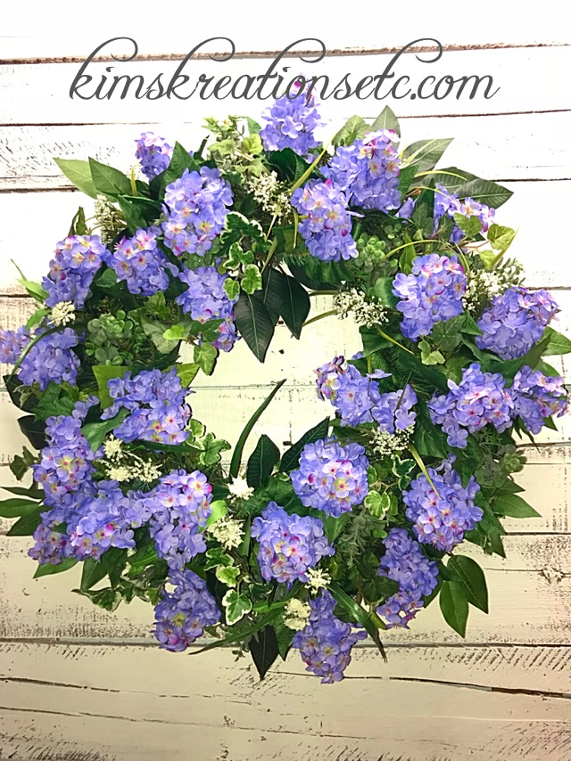 Spring Wreath Summer Wreath Lilac Wreath Purple Lilacs Spring
