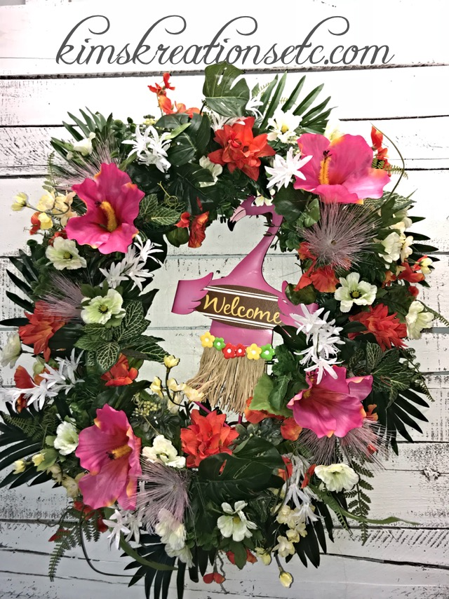 ... Summer Decor, Handmade Wreath, Home Decor. ; 