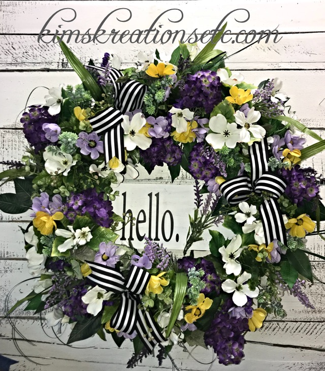 ... Front Door Wreath, Spring/Summer Wreath, Home Decor, Handmade Wreath.  ; 