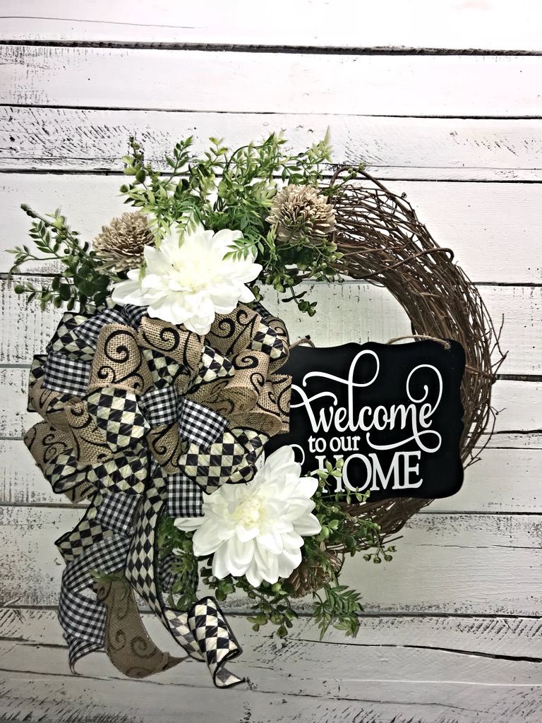 Front Door Wreath Everyday Welcome For To Our Home Decor Decorative Handmade