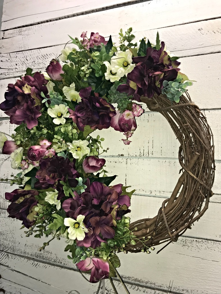 Spring Wreath Summer Wreath Hydrangeas Wreath Mothers Day Gift