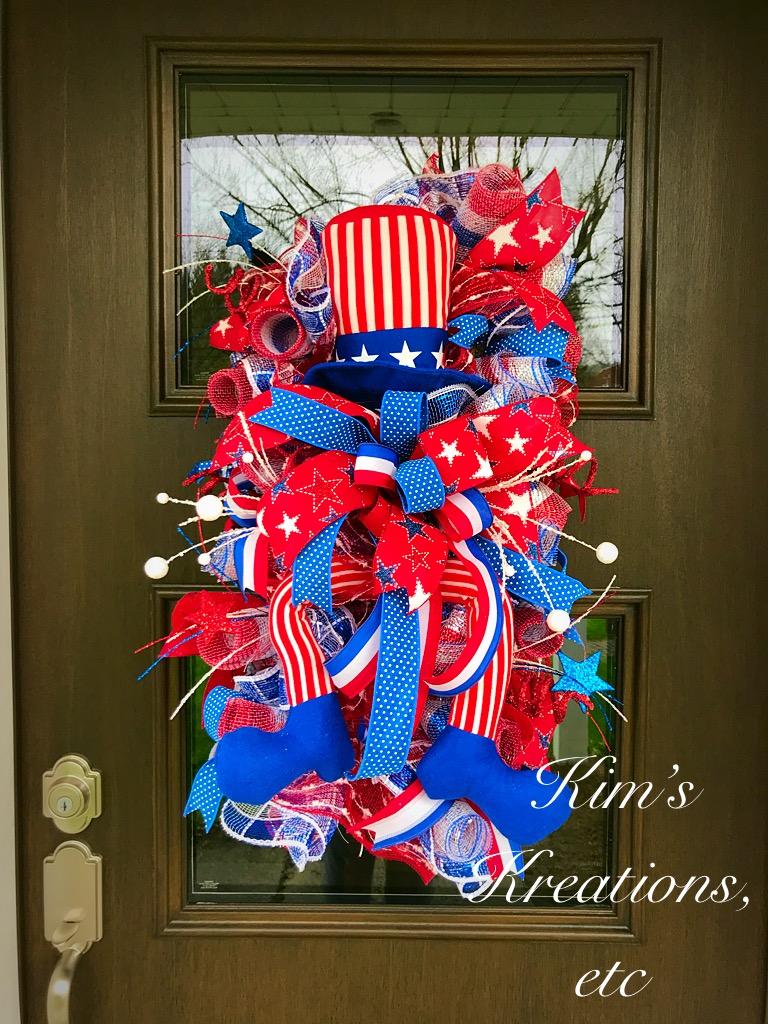 Patriotic Wreath Patriotic Swag Usa 4th Of July