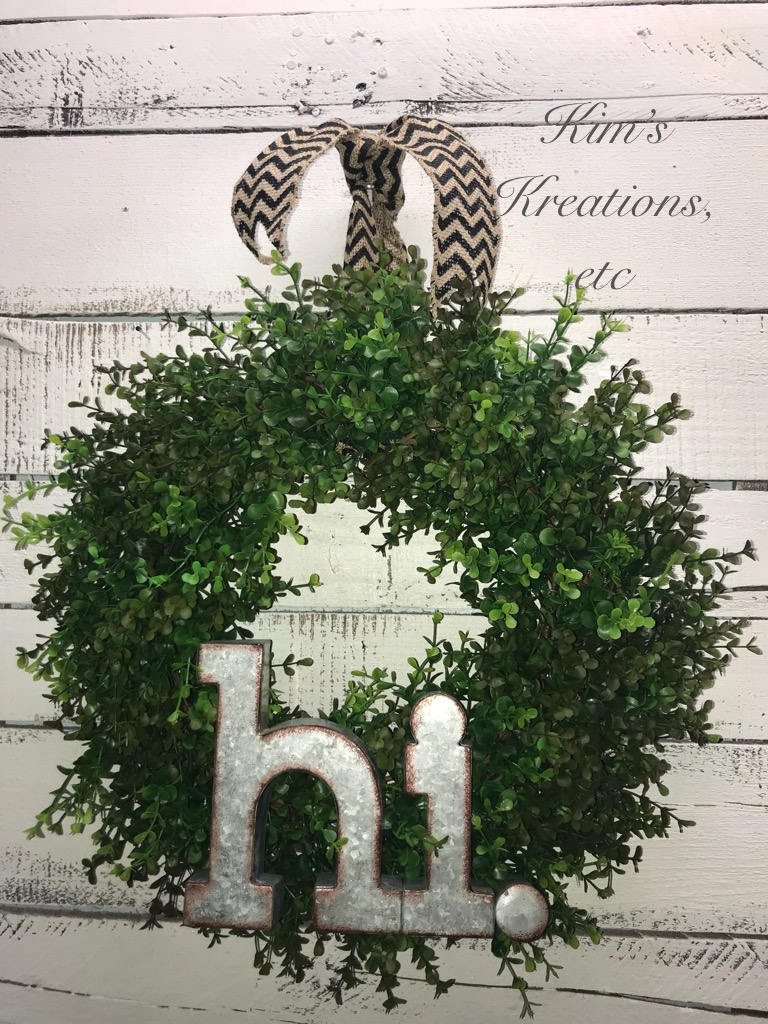 Boxwood Wreath Fixer Upper Style Wreath Farmhouse Wreath Everyday