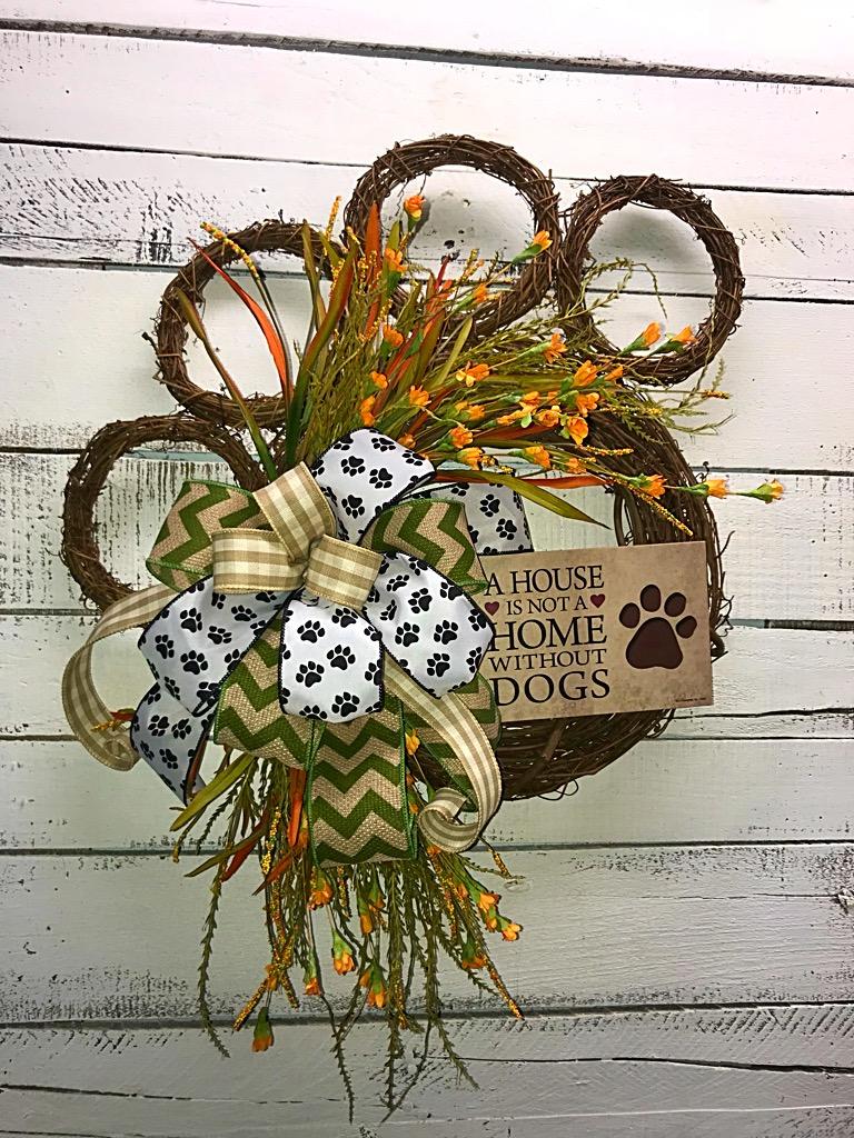 white and tan  burlap wreath dog wreath Everyday wreath for Front door Dog lover wreath deco mesh wreath