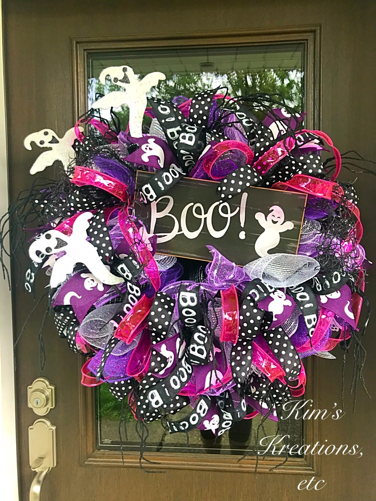 Halloween Wreath Halloween Decorations Halloween Door Wreath Halloween Wreath For Front Door Cute Halloween Wreath Halloween Ghost Wreath Halloween Ghosts Halloween Home Decor Decorative Wreath Front Door Wreath Cute Halloween Decorations