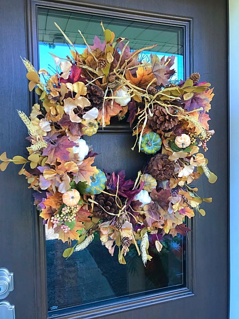 Fall Wreath Fall Door Wreath Fall Leaves Fall Pumpkins Natural
