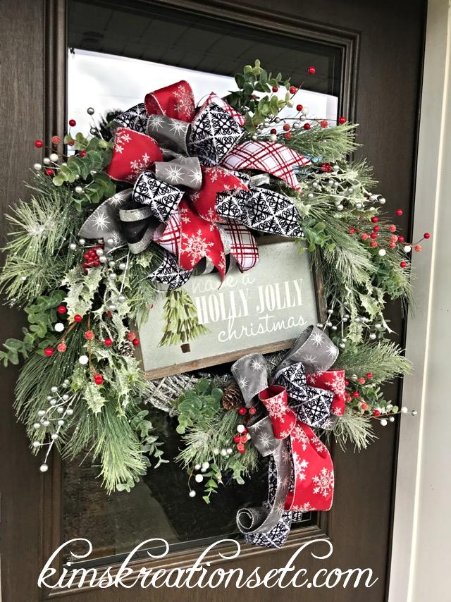 Merveilleux Christmas Wreath, Holiday Wreath, Christmas Pine Wreath, Sparkly Christmas  Wreath, Holiday Pine Wreath, Deluxe Christmas Wreath, Christmas Door Wreath,  ...