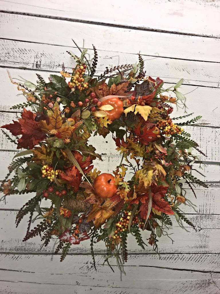 Fall Wreath Fall Door Wreath Fall Wildflowers Wreath Fall Wreath For Front Door Fall Decor Fall Leaves Fall Pumpkins Home Decor Wreaths For