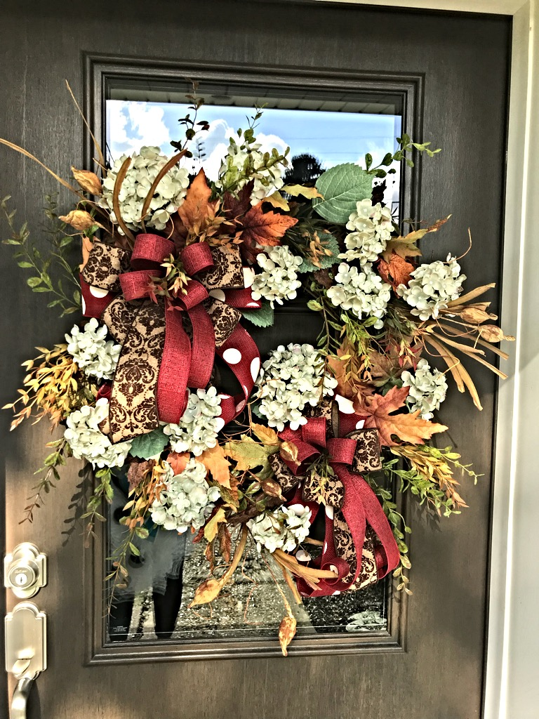 Fall Wreath Fall Door Wreath Fall Hydrangeas Large Fall Wreath