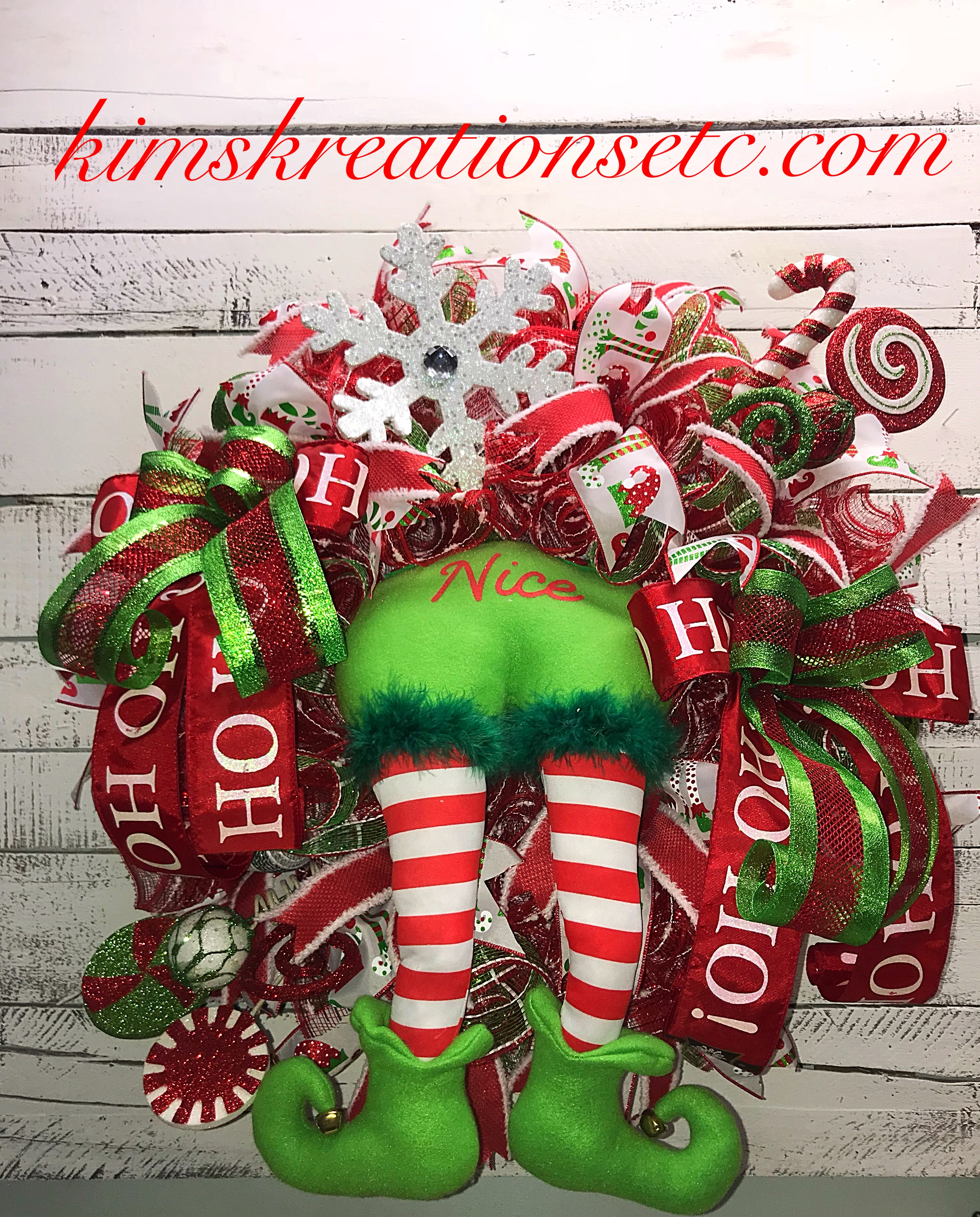 Christmas Wreath Christmas Character Wreath Christmas Elf Wreath
