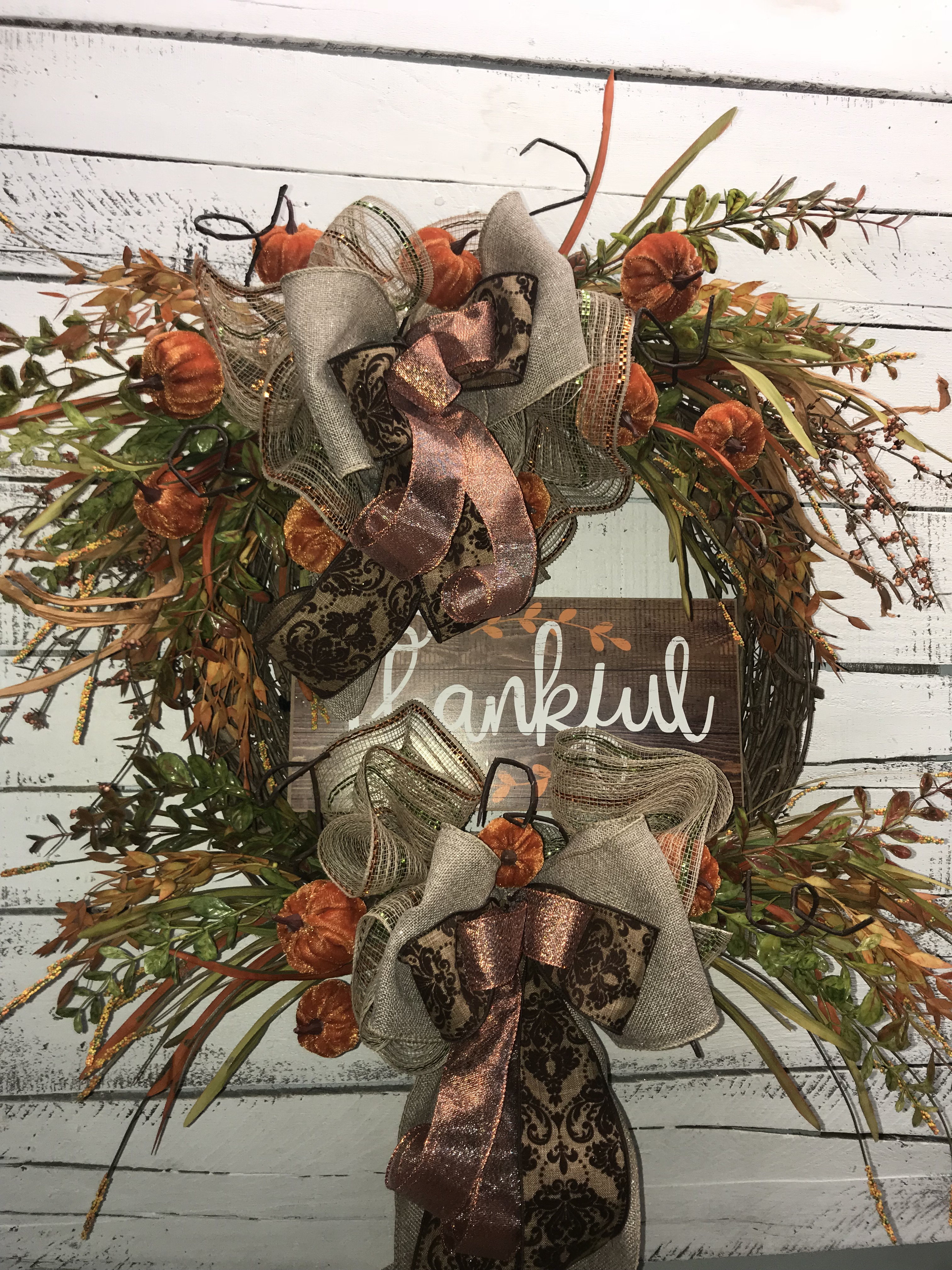 Fall Wreath Thanksgiving Wreath Fall Wreath For Front Door Beautiful Fall Wreath Fall Pumpkins Thankful Wreath Thanksgiving Front Door Wreath Gifts For Any Occasion Handmade Wreaths Wreaths For Sale Home Decor Fall