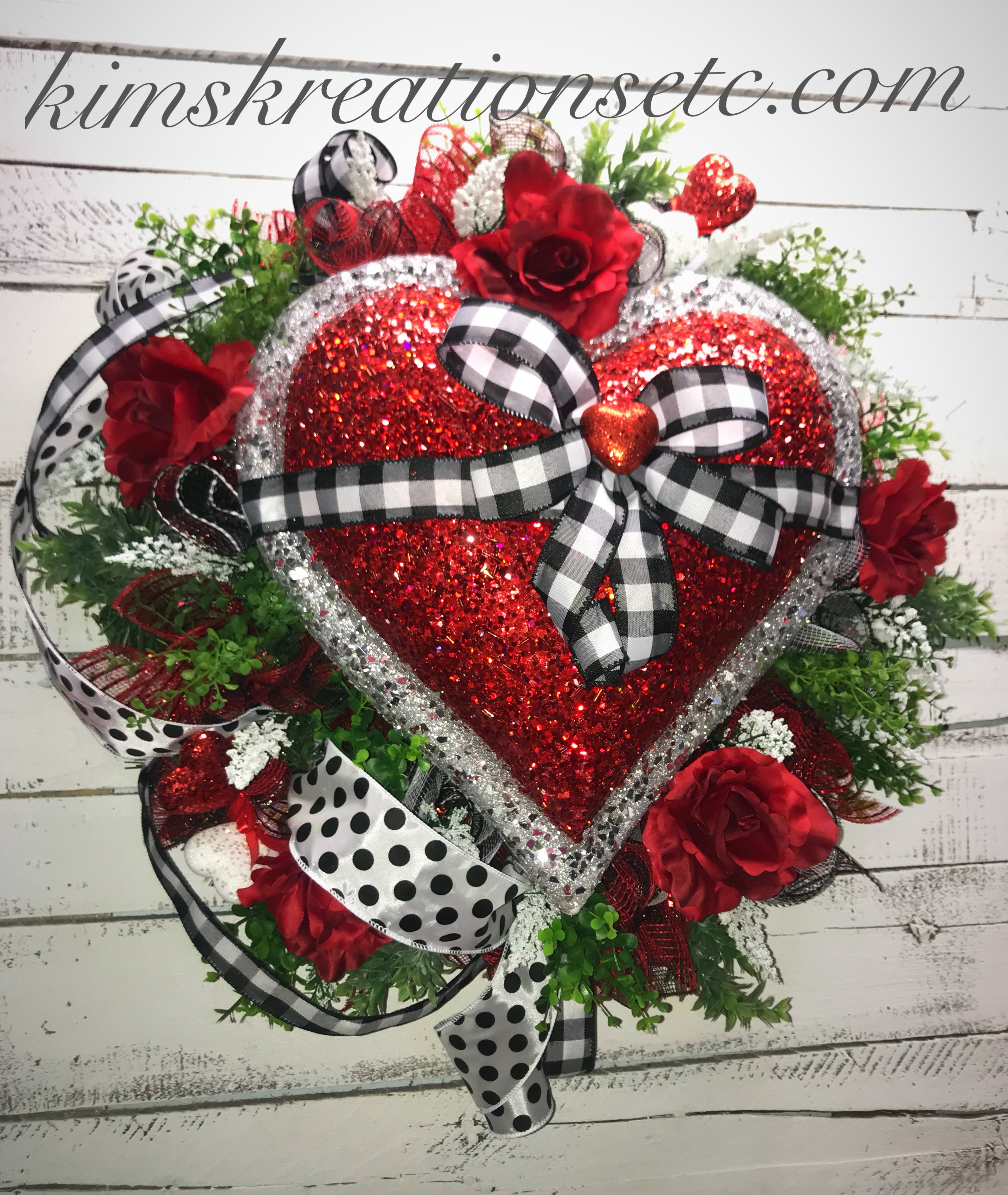 Valentines Day Wreath Red Heart Wreath Large Red Heart Valentines