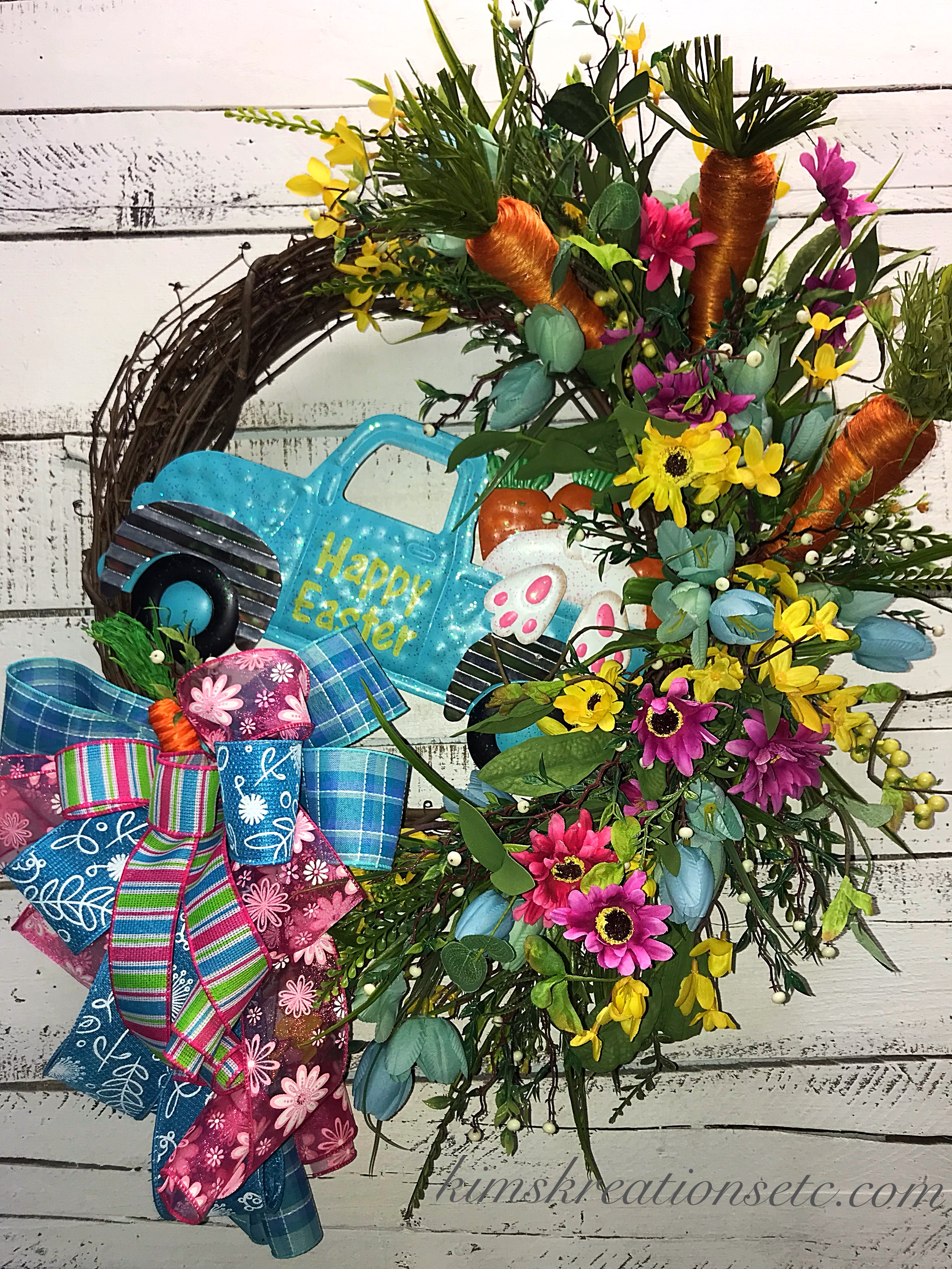 Easter Wreath, Easter Truck Wreath, Pickup Truck Wreath ...