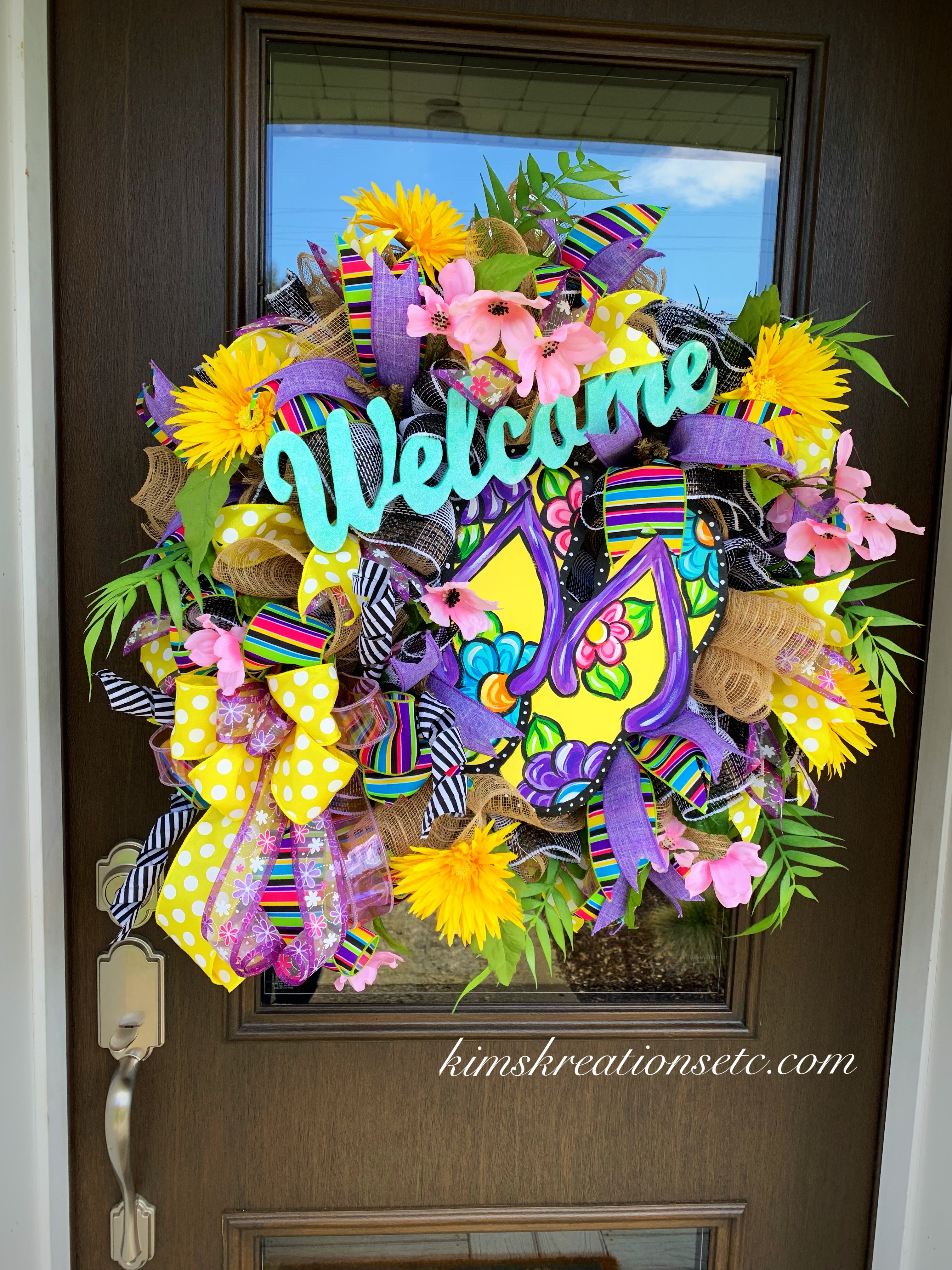 Summer Wreath colorful wreath flip flop wreath summer flip flop wreath Summer Decor bright wreath wreath wreath summer decor
