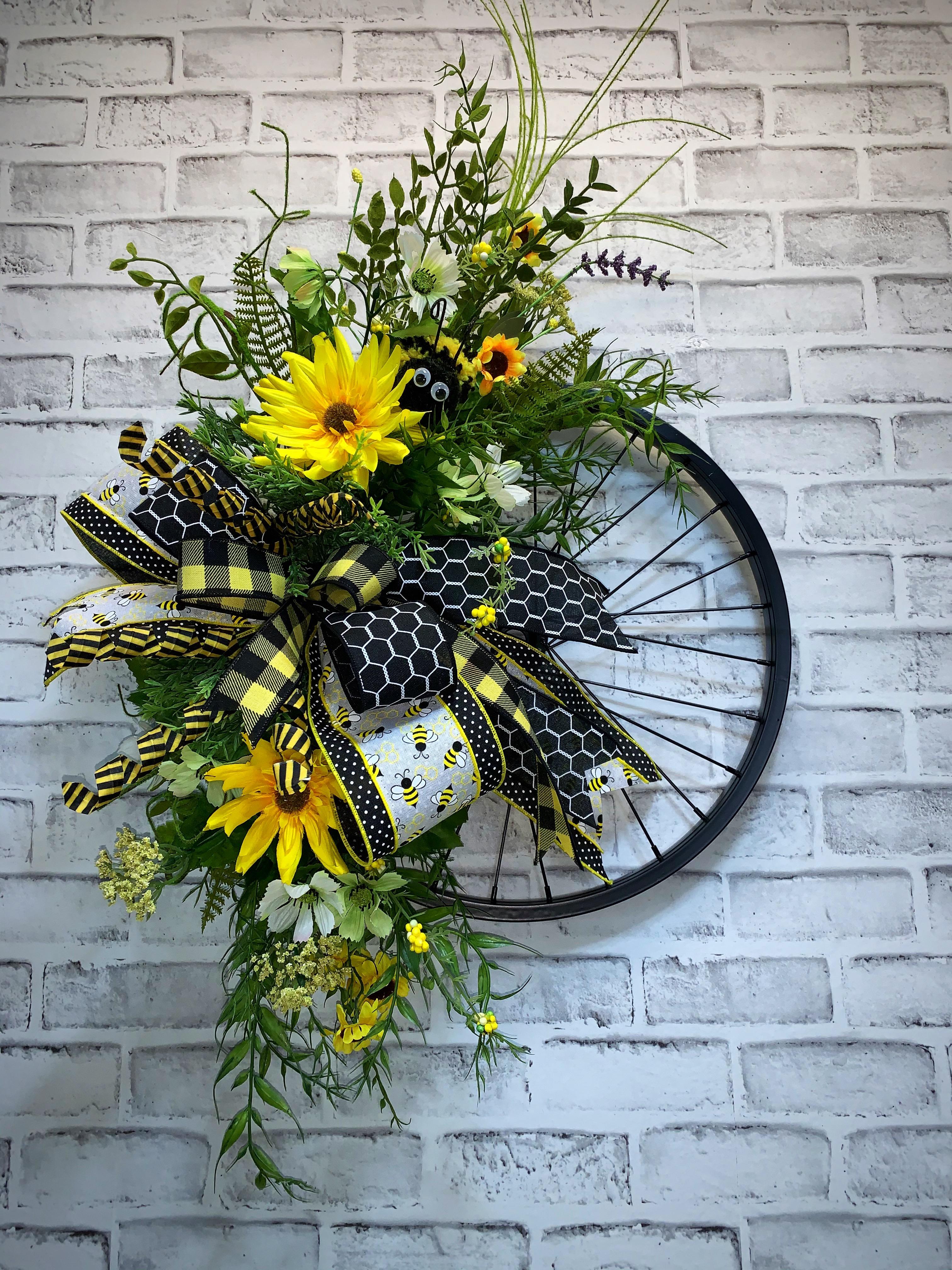 Summer Wreath Sunflowers  Bicycle Handlebar Bike Bell