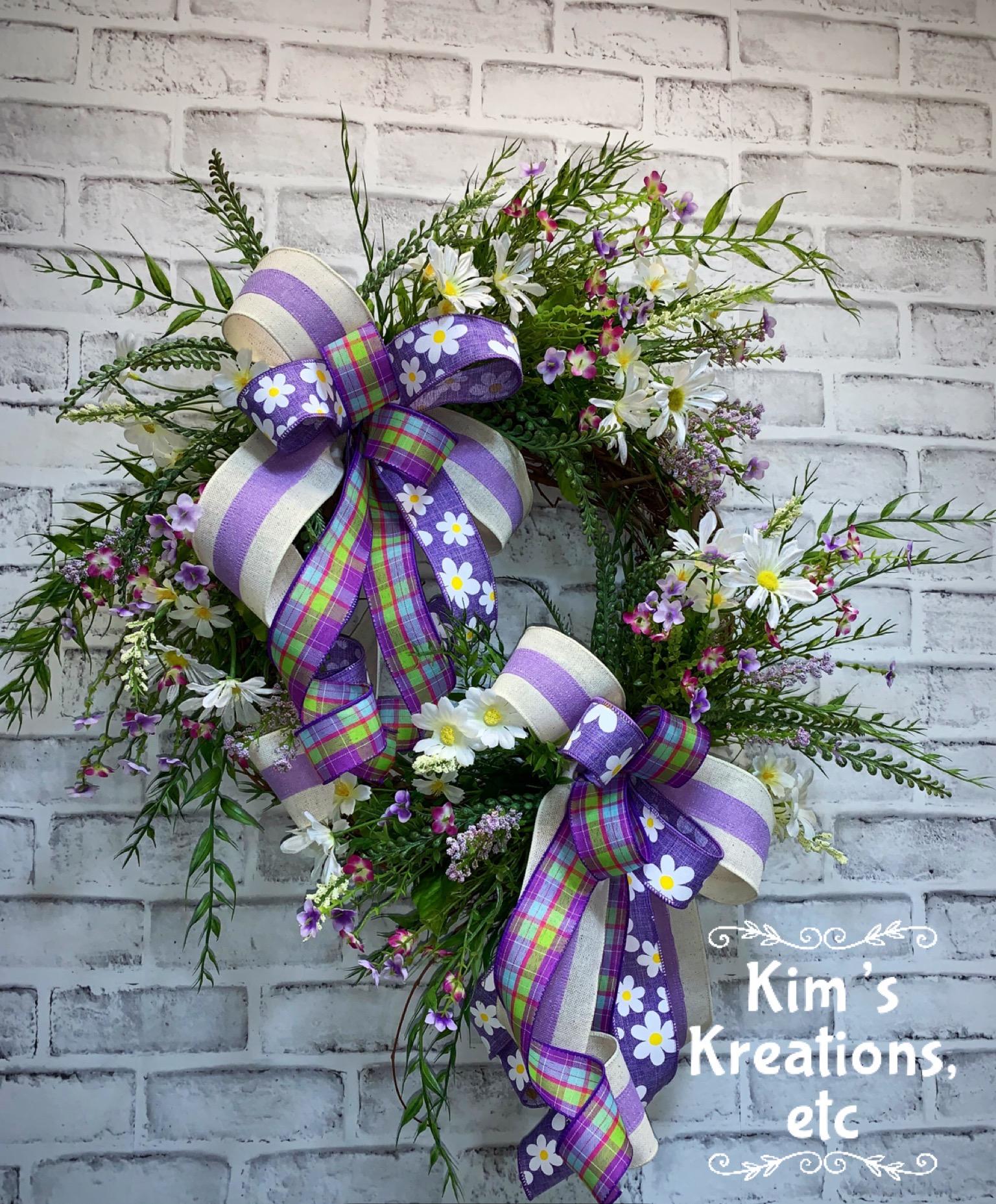 Spring Wreath Free Shipping Summer Wreath Purple Lavender Wreath Wildflower Wreath Front Door Wreath For Summer Door Wreath Decorative Wreath Grapevine Wreath Wispy Wildflower Wreath Summer Decor Home Decor Handmade Wreaths Wreaths