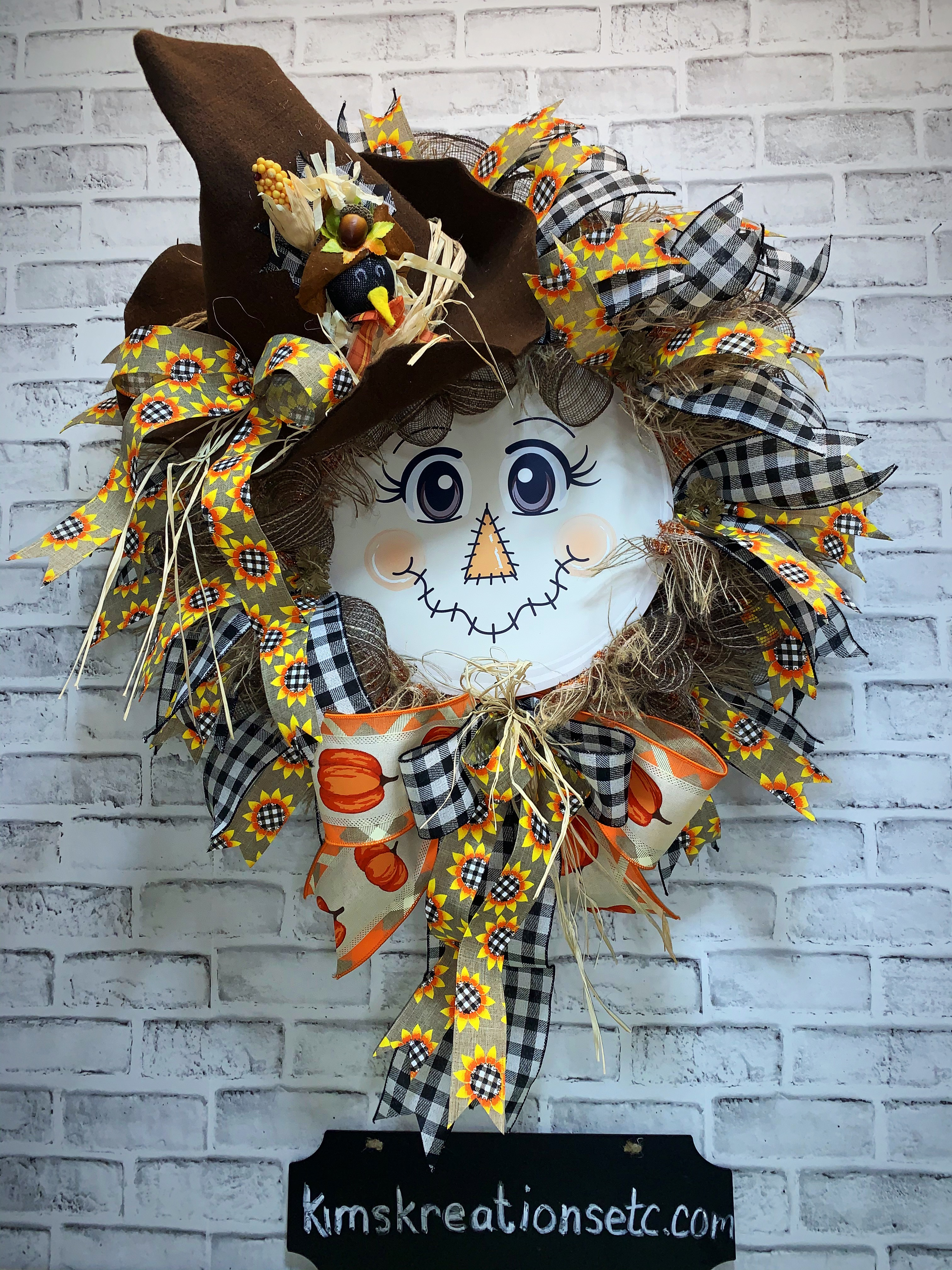 Fall Wreath Free Shipping Scarecrow Wreath Fall Scarecrow Scarecrow Face Fall Door Wreath Front Door Wreath For Fall Scarecrow Fall Decor Home Decor Decorative Wreath For Fall Wreaths For Sale Kim S